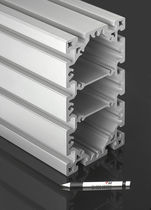 Aluminum profile / flat / rectangular / lightweight