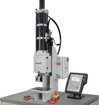 Pneumatic press / C-frame / with stroke force monitoring