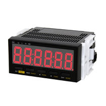 Panel-mount tachometer / with LED display / analog / frequency counter