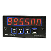 Digital totalizer counter / pulse / panel-mount / programmable