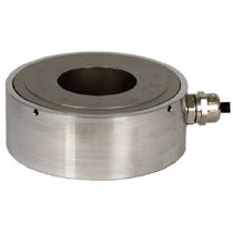 Compression load cell / tension/compression / donut-shaped / stainless steel