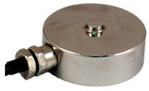 Compression load cell / button type / flat / stainless steel