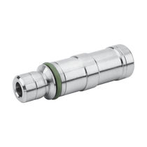Knock-in insert / nickel-plated brass / round / pneumatic