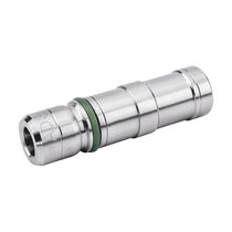 Knock-in insert / stainless steel / round / pneumatic