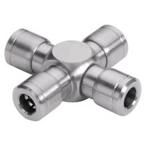 Cross fitting / pneumatic / stainless steel / seal