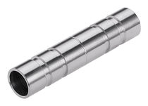 Cylindrical plug / male / stainless steel / for pneumatic conveying