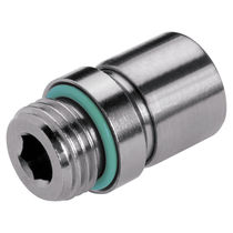 Socket fitting / threaded / straight / hydraulic