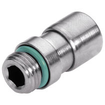 Threaded fitting / socket / straight / hydraulic