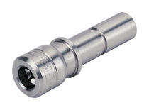 Reducing plug / cylindrical / male / stainless steel