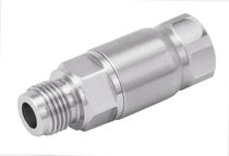 Screw-in fitting / straight / pneumatic / stainless steel