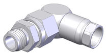 Threaded fitting / angle / hydraulic / stainless steel