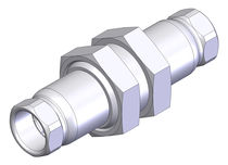 Push-to-lock fitting / straight / hydraulic / stainless steel