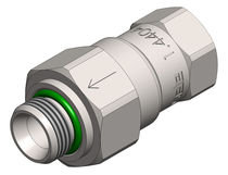 Poppet check valve / threaded / stainless steel