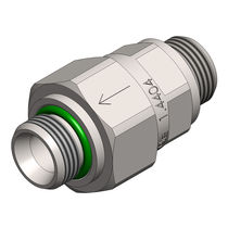 Poppet check valve / male / screw-in