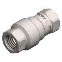 Poppet check valve / female / screw-in