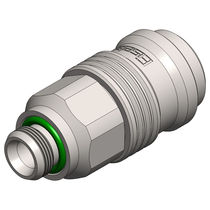 Quick coupling / for compressed air / external thread