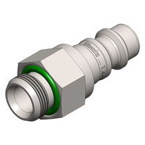 Threaded fitting / straight / pneumatic / stainless steel
