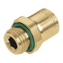 Threaded fitting / straight / hydraulic / seal