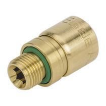 Threaded fitting / straight / hydraulic / brass