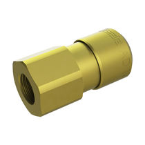 Straight fitting / hydraulic / brass