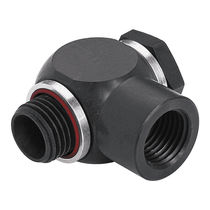 Threaded fitting / T / for compressed air / swivel