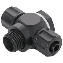 Screw-in fitting / T / hydraulic / pneumatic