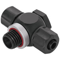 Swivel fitting / threaded / T / hydraulic