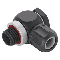 Threaded fitting / T / pneumatic / swivel