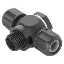 Screw-in fitting / T / pneumatic / swivel
