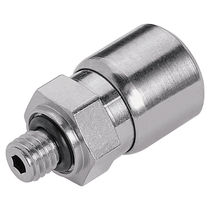 Threaded fitting / straight / nickel-plated brass