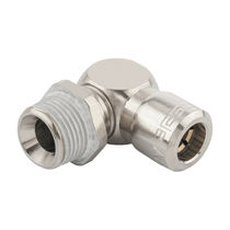 Threaded fitting / elbow / pneumatic / nickel-plated brass