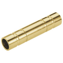 Cylindrical plug / male / female / brass