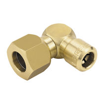 Hydraulic adapter / for pipes / female hose / brass