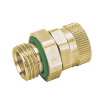 Screw-in fitting / straight / hydraulic / brass