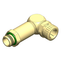 Screw-in fitting / elbow / hydraulic / brass