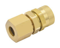 Hydraulic adapter / for pipes / threaded / brass