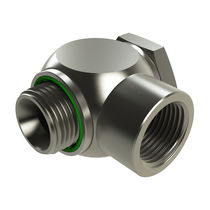 Screw-in fitting / elbow / pneumatic / nickel-plated brass