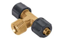 Brass hose coupling / T / for compressed air / screw-in
