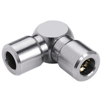 Elbow fitting / hydraulic / nickel-plated brass