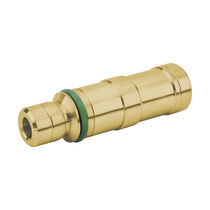 Knock-in insert / brass / round / pneumatic