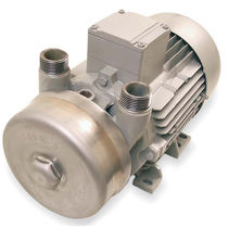 Liquid ring vacuum pump / lubricated / single-stage / compact