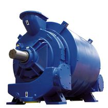 Liquid ring vacuum pump / lubricated / single-stage