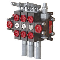 Spool hydraulic directional control valve / hydraulically-operated / sectional / modular