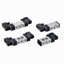 Solenoid-operated pneumatic directional control valve / normally closed