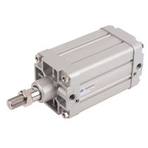 Pneumatic cylinder / double-acting / aluminum / ISO