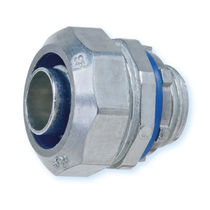 Threaded fitting / straight / pneumatic / metal