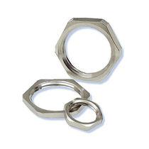 Hexagonal locknut / nickel-plated brass