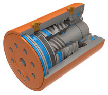 Helical rotary actuator / hydraulic / double-acting