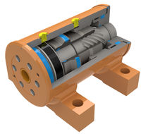 Rotary actuator / hydraulic / rack-and-pinion / double-acting