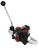 Spool hydraulic directional control valve / lever-operated / 4-way / pressure-compensated